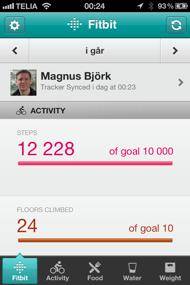 Fitbit iPhone app