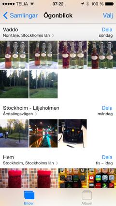 iOS 7 Bilder