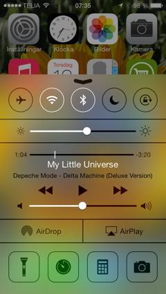 iOS 7 Kontrollcenter